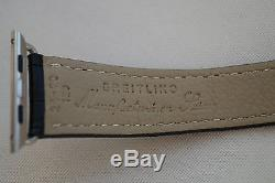 Luxury Breitling Genuine Leather Band Strap Black For Apple Watch 42mm