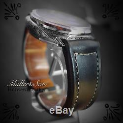 Müller&Son 26mm Black Genuine Horween Leather Watch Strap Custom Made in USA