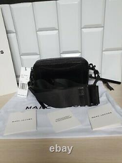 MARC JACOBS The Snapshot DTM Small Camera Bag 100% Genuine Leather Black New