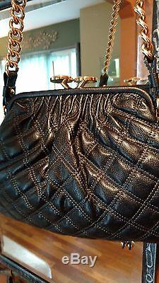 Marc Jacobs Black Leather StamBag Chain Strap NWOT