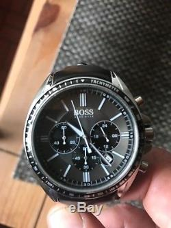 Mens Hugo Boss Watch with Black Leather Strap