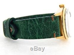 Mens Rolex Day-Date President 18K Yellow Gold Watch Green Strap Black Dial 1803