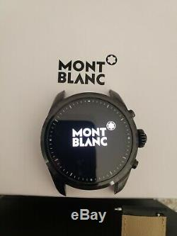 Mont Blanc Summit 2 Smart Watch Black Leather Strap Excellent Condition