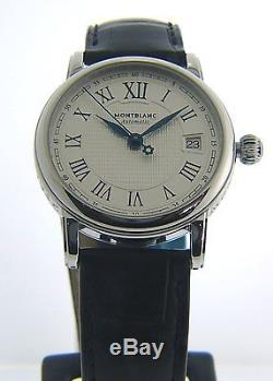 Montblanc Star Date Automatic Black Leather Strap Men's Watch 107114