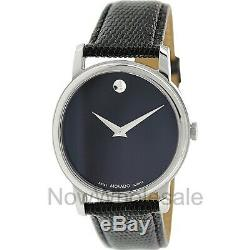 Movado Museum Black Dial Black Leather Strap Men's Watch 2100002 FREE Shipping