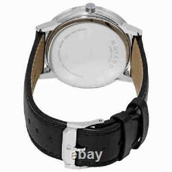 Movado Museum Classic Black Dial Leather Strap Men's Swiss Watch 0607269