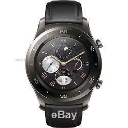 NEW Huawei Watch 2 Classic Titanium Grey with Black Hybrid Strap Android Wear 2