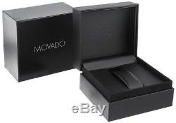 NEW Movado Museum Black Dial Leather Strap Gold 38mm 2100005 Mens Swiss Watch