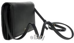 NEW TOM FORD BLACK LEATHER CROSSBODY STRAP CLUTCH WALLET BAG WithBOX