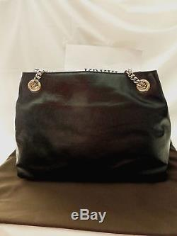 NWT Gucci Soho Black Patent Leather Chain-Strap Tote Shoulder Bag