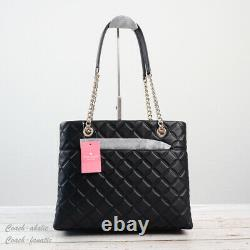 NWT Kate Spade New York Natalia Quilted Smooth Leather Tote Shoulder Bag