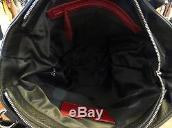 New! $750 Vlieger & Vandam Black Leather Heavy Metal Chain Tote with Strap