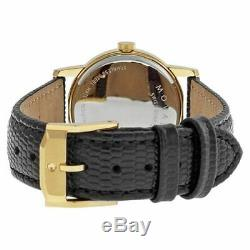 New MOVADO Museum 2100006 Black Dial Leather Strap Quartz Ladies Watch with box