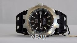 New Mens Caterpillar CAT YE14134121 Black Leather Strap Analog date Watch OFFER