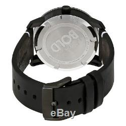 New Movado Bold Black Dial Leather Strap Men's Watch 3600385