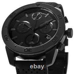New Movado Bold Chronograph Black Dial Leather Strap Men's Watch 3600517