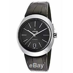 New Rado D-Star 39mm Automatic Ceramic Leather Strap Men's Watch R15762175