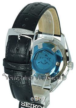 New SEIKO KINETIC CHAMPAGNE FACE Day Date BLACK LEATHER BUCKLE STRAP SRN071P1