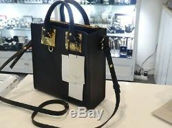 New SOPHIE HULME Square Albion S25 Saddle Leather Black RRP $990