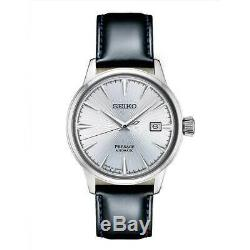 New Seiko Presage Automatic Sunray Dial Leather Strap Mens Watch SRPB43