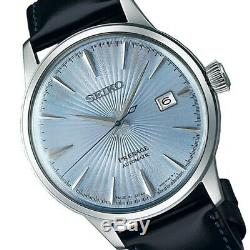 New Seiko Presage Cocktail Automatic Silver Dial Leather Strap Srpb43j1