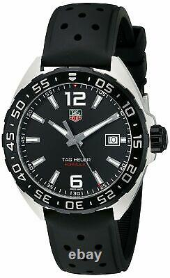 New Tag Heuer Formula 1 One WAZ1110. FT8023 Black Rubber Strap Mens 41mm Watch