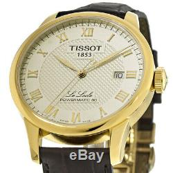 New Tissot Le Locle Powermatic 80 Yellow Gold Men's Watch T006.407.36.263.00