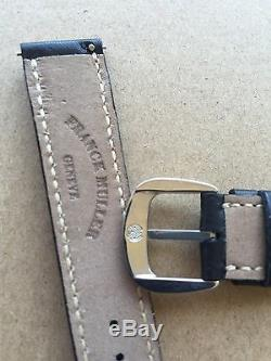 New Without Tags Franck Muller 17-16 mm Black Leather Watch Strap