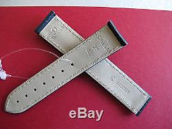 Omega Watch Strap Black Alligator Leather 20 -18 Deployment AUTHENTIC SWISS New