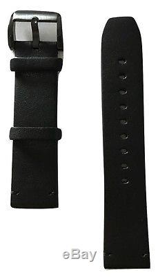 Original Movado BOLD 22mm Black Leather Band Strap For Men's 42mm or 44mm Watch