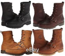 Polo Ralph Lauren Mens Ranger Strap Lace-Up Hiking Trail Boots Shoes