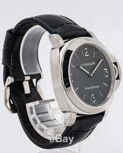Pre-Owned Panerai Stainless Steel PAM112 Luminor Marina Base with Leather Strap