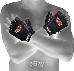 RDX Weight Lifting Training Gym Gloves Straps Fitness Bodybuilding Workout Yoga