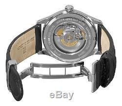 Revue Thommen Mens Date Pointer Black Leather Strap Automatic Watch 10012.2532