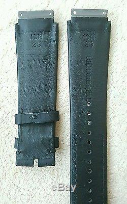 Richard Mille Rm 010 & 029 calf leather watch strap in matt black new authentic