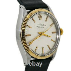 Rolex Air King 5501 Gold Automatic Mens Vintage Watch 34MM