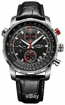 Rotary GS03641/04/KIT Men's Interchangeable Chronograph Leather Strap Watch