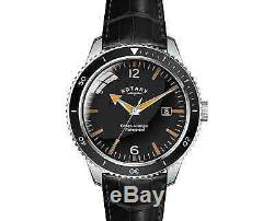 Rotary Men's Timepieces Ocean Avenger GS02694/04 Black Leather Strap Watch