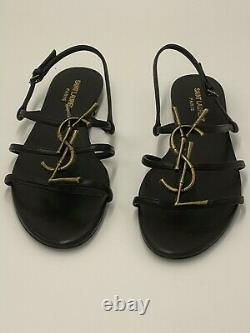 Saint Laurent YSL Cassandra Womens Sandals, Size 39, Like New With Box, Lovely