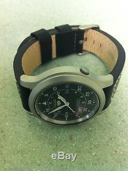 Seiko 5 Automatic. SNK809k2. With quality black leather strap fitted