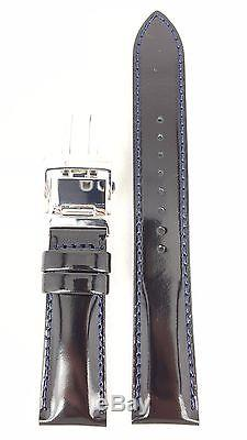 Seiko Cocktail Time Sarb065 Black Leather Watch Strap 6r15 01s0 Band Do151 W 20