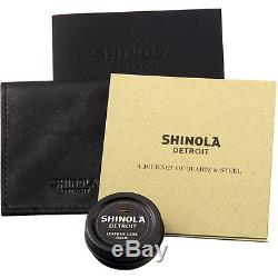 Shinola The Canfield Black Dial Leather Strap Men'S Watch 20001942