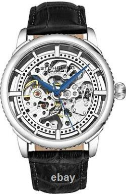 Stuhrling Winchester 3933.1 Automatic Self Wind Mens Watch Genuine Leather Strap