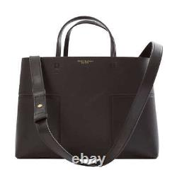 TORY BURCH Block T Compartment Black Leather Tote Satchel NWT Authentic