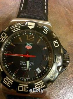 Tag heuer formula 1 200m- Black with Black Leather strap