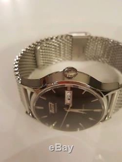 Tissot Heritage Visodate Black Dial Leather Strap & Milanese Band Men's Watch