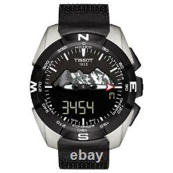 Tissot Men's T0914204605110 T-Touch 45mm Black Dial Fabric Watch