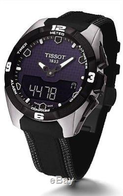 Tissot T-Touch Expert SOLAR Black Leather Strap Mens Watch T0914204605101