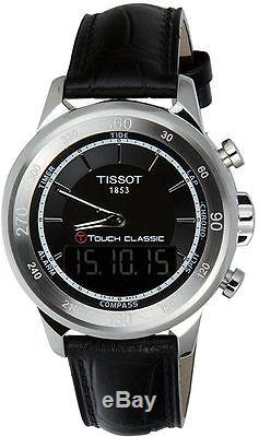 Tissot T0834201605110 T Touch Classic MSG Watch Black Leather Strap