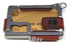 Trayvax Contour Wallet Raw Burgundy Red Leather Strap Tactical BNIB FREE US SHIP